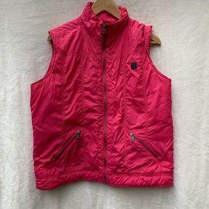 Carhartt Vest Pink Zipper Front, L